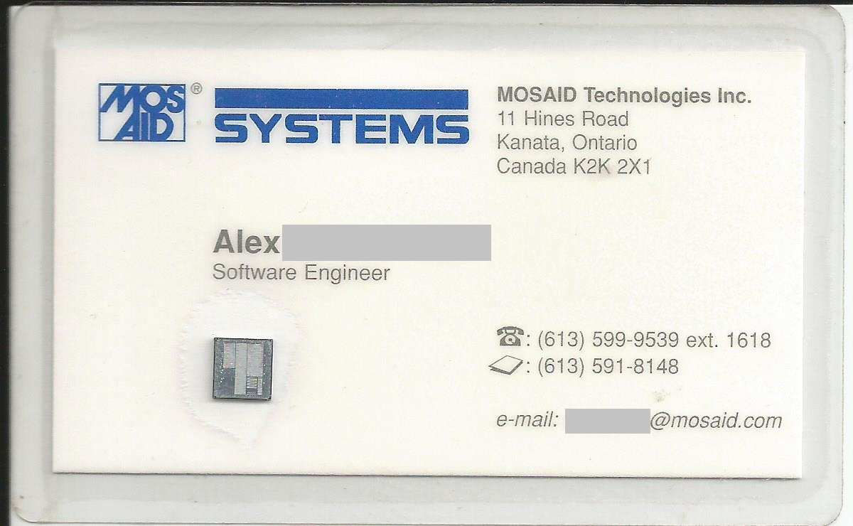MOSAID business card