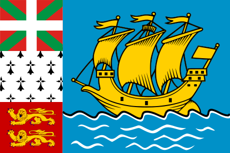 City of St. Pierre. Flags.