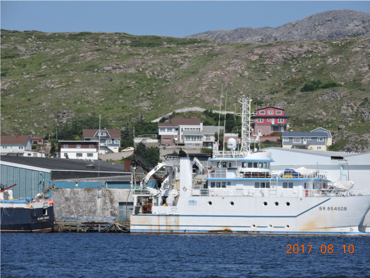 St. Pierre. Military ship.