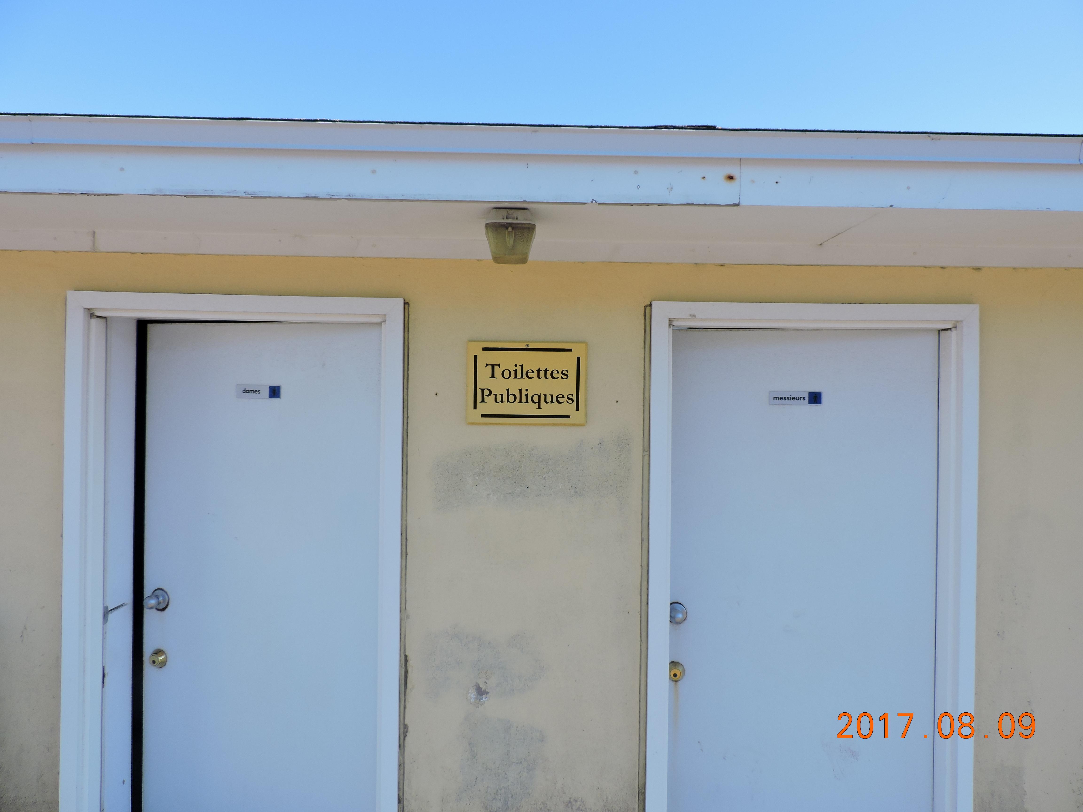St. Pierre. Public toilet.